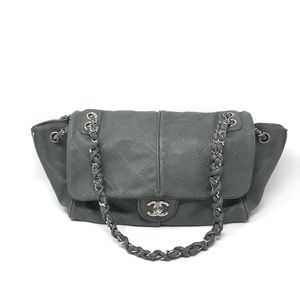 CHANEL Ultimate Stitch Zip Quilted Large Flap Bag